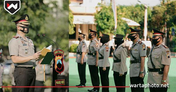 Sejumlah Perwira Polres Pati Dirotasi Guna Pengembangan Karir dan Promosi Jabatan