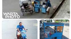 Motor beserta Gerobak Penjual Pentol Keliling di Pati Raib Digondol Maling, Jejaknya Terekam CCTV